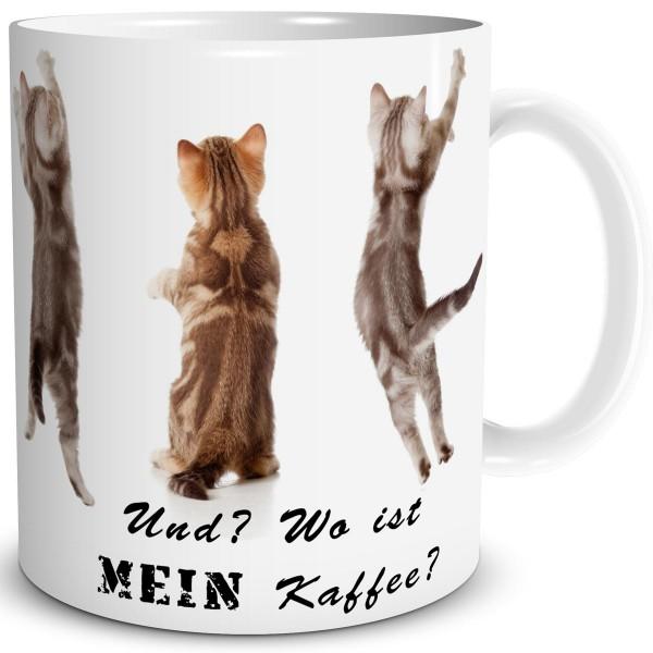 Katzen Wo ist mein Kaffee, Tasse 300 ml