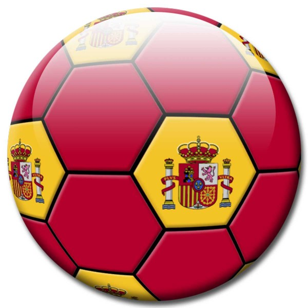 Magnet Fußball - Flagge Spanien - Ø 5 cm