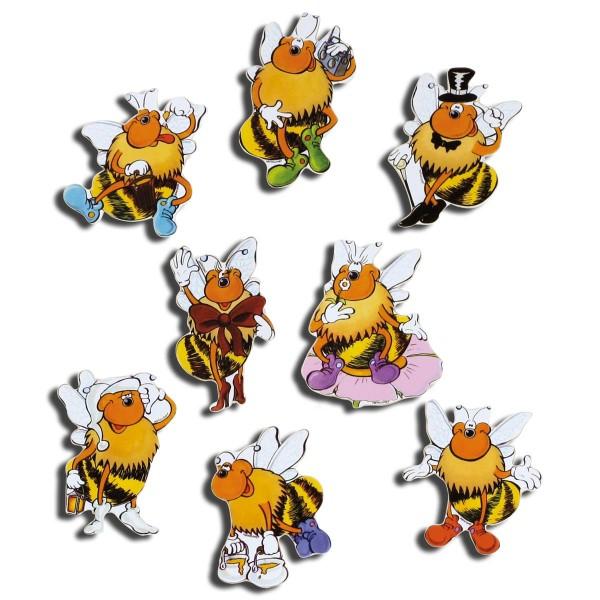Magnete 8er-Set Bienen