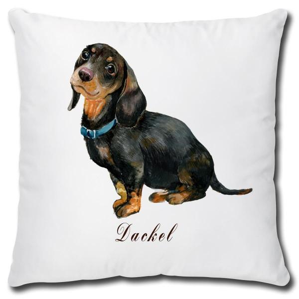 Dackel Hund, Kissen 40x40 cm