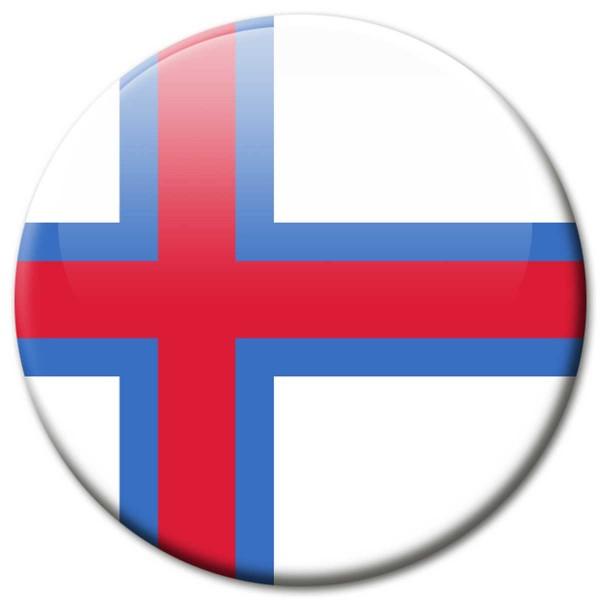 Flagge Faroe Islands, Magnet 5 cm