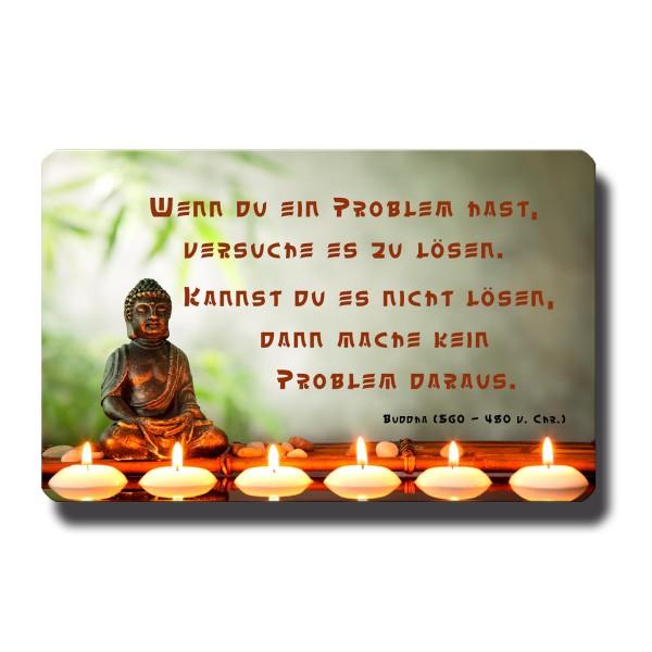 Buddha Problemlösung, Magnet 8,5x5,5 cm