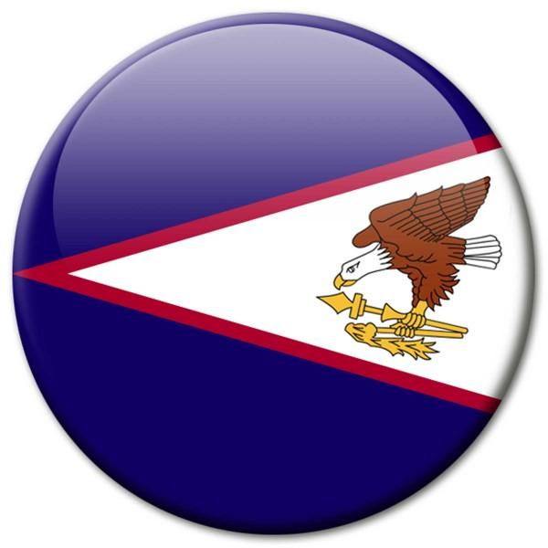 Flagge Amerikanisch-Samoa, Magnet 5 cm