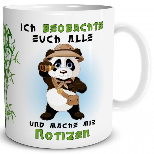 Panda Notizen, Tasse 300 ml