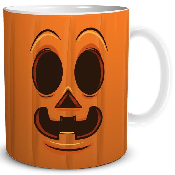 Halloween Kürbis Gesicht Smiley Lächeln Dark, Tasse 300 ml