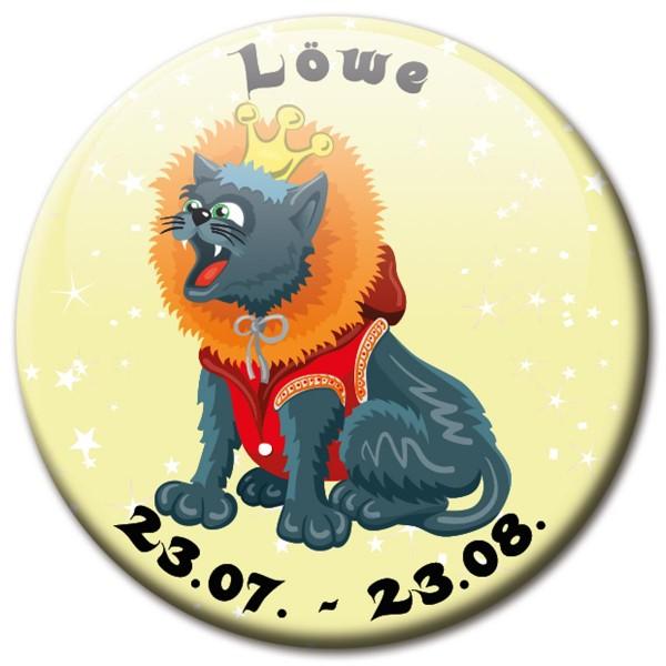 Magnet Katze - Sternzeichen Löwe - Ø 5 cm