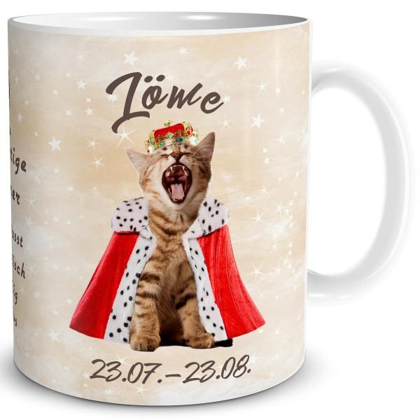 Sternzeichen Löwe Katze, Tasse 300 ml