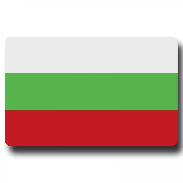 Flagge Bulgarien, Magnet 8,5x5,5 cm