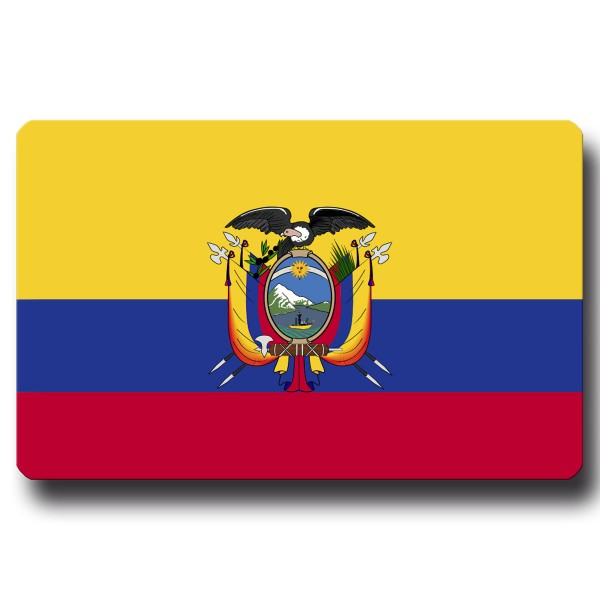 Flagge Ecuador, Magnet 8,5x5,5 cm