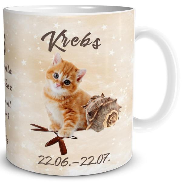 Sternzeichen Krebs Katze, Tasse 300 ml