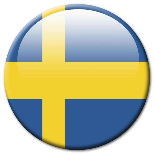 Flagge Schweden, Magnet 5 cm