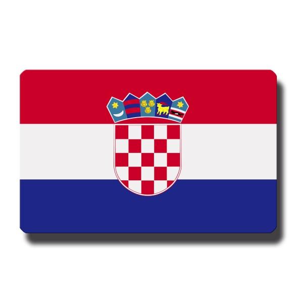 Flagge Kroatien, Magnet 8,5x5,5 cm