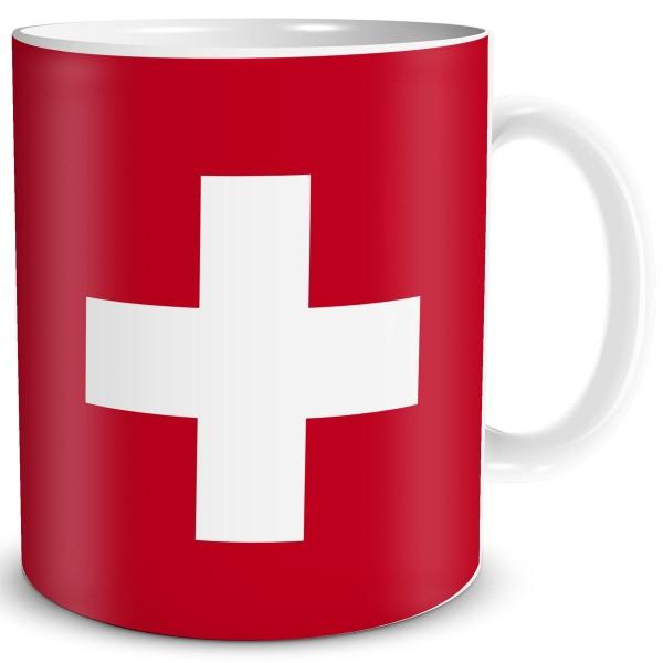Flagge Schweiz, Tasse 300 ml