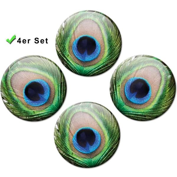 Magnete 4er-Set Pfauenaugen - Ø 5 cm