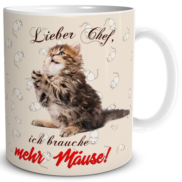 Katze Mehr Mäuse, Tasse 300 ml