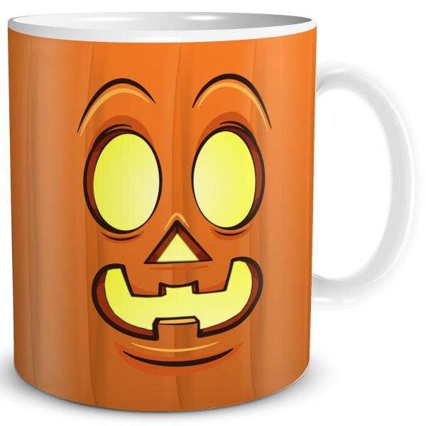 Halloween Kürbis Gesicht Smiley Lächeln Light, Tasse 300 ml