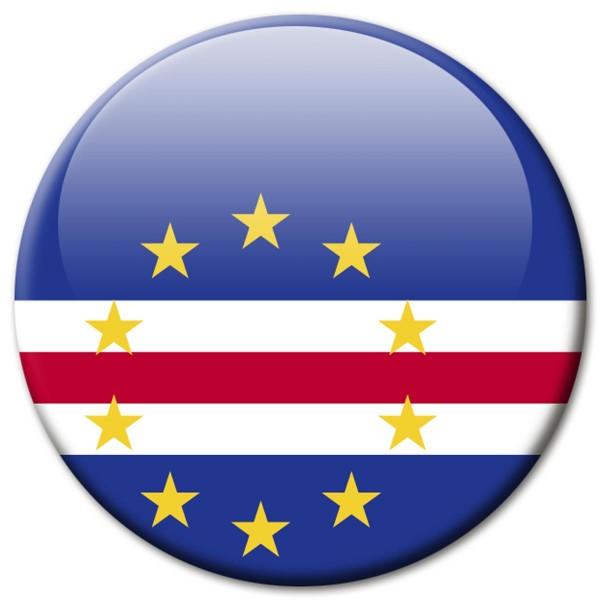 Flagge Kap Verde, Magnet 5 cm