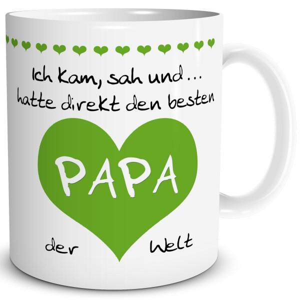 """Papa Herz """"Bester der Welt"""" Grün, Tasse 300 ml"""
