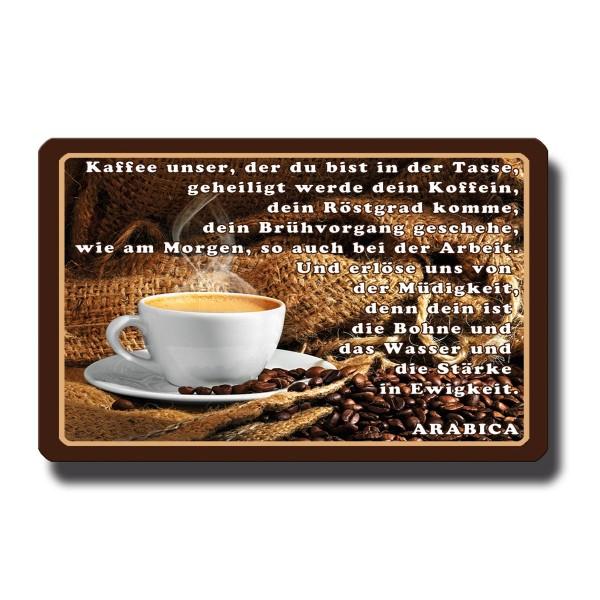 Kaffee Spaßgebet, Magnet 8,5x5,5 cm
