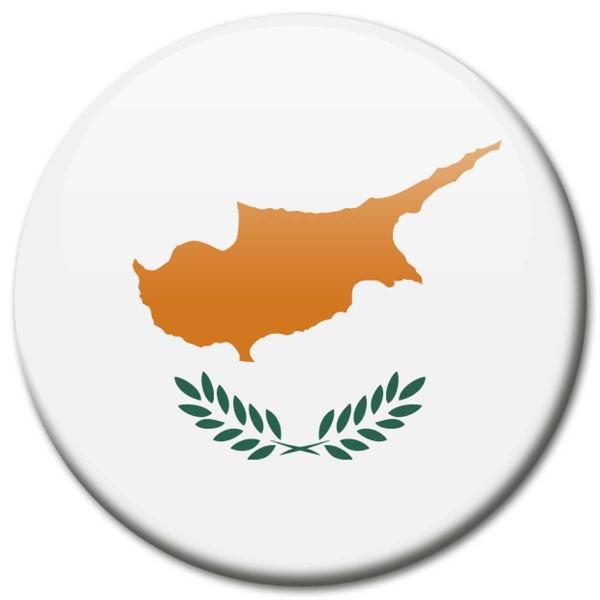 Flagge Zypern, Magnet 5 cm