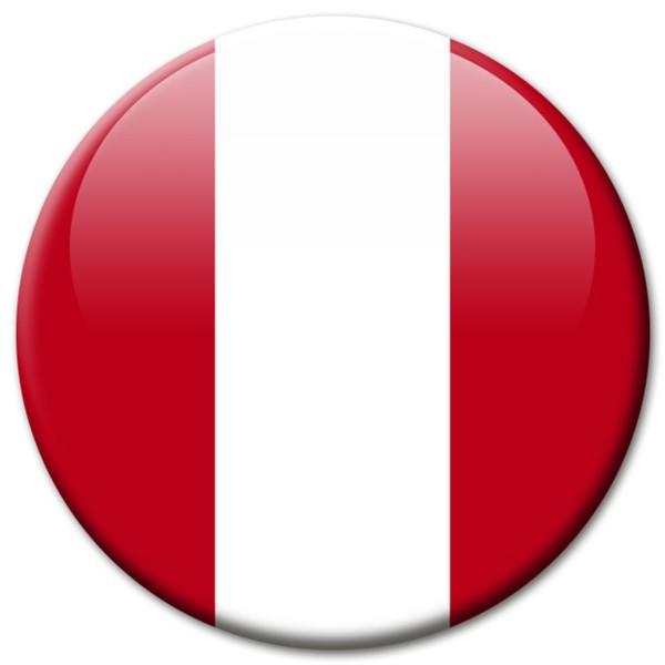 Flagge Peru, Magnet 5 cm