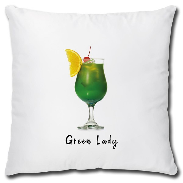 Cocktail Green Lady, Kissen 40x40 cm