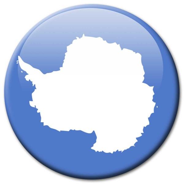 Flagge Antarktis, Magnet 5 cm