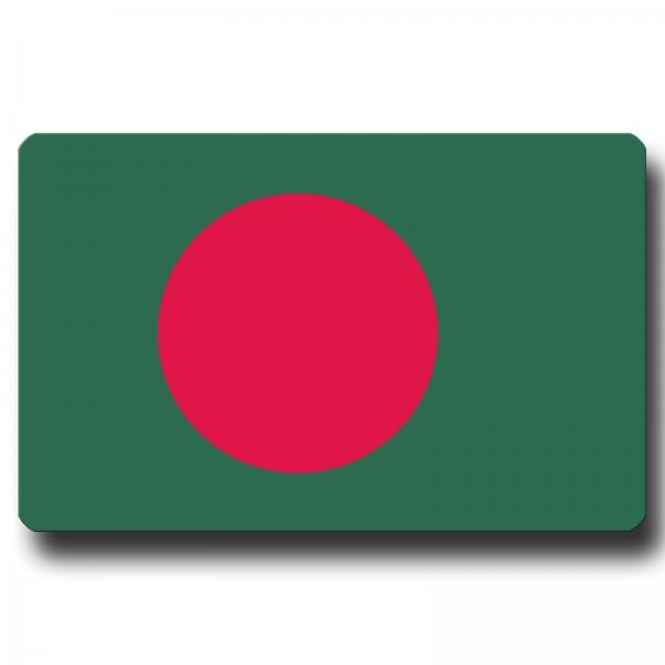 Flagge Bangladesch, Magnet 8,5x5,5 cm