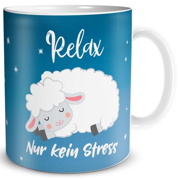 Schaf Relax kein Stress, Tasse 300 ml